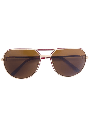Cartier Eyewear Must de Cartier aviator-frame sunglasses - Neutrals