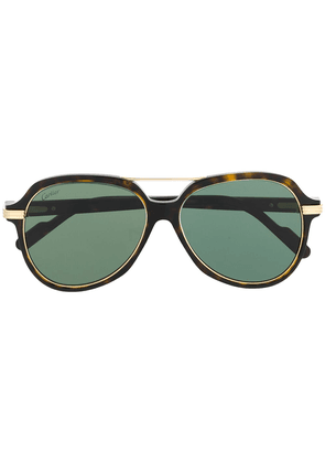 Cartier Eyewear C Décor oversized-frame sunglasses - Brown