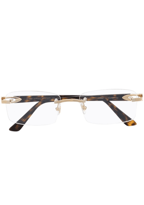 Cartier Eyewear CT0287O frameless glasses - Brown