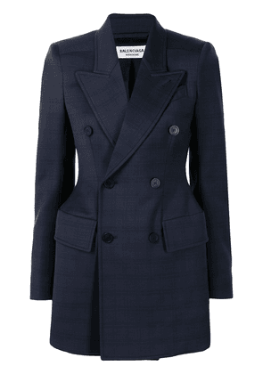 BALENCIAGA double-breasted wool blazer - Blue