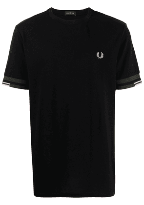 FRED PERRY embroidered cotton T-shirt - Black