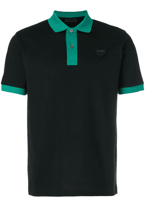 Prada contrast trim polo shirt - Black
