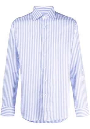 Canali button-front shirt - White
