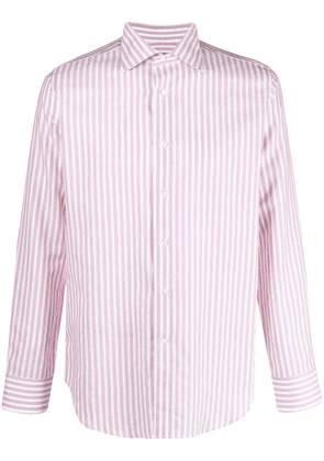 Canali button-front shirt - Pink