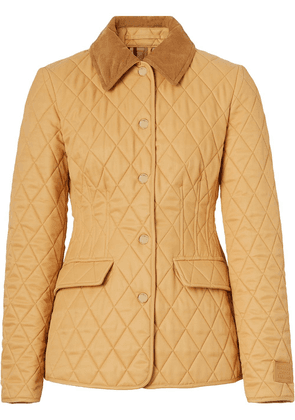 Burberry quilted fitted jacket - Brown
