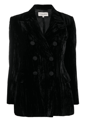 Alexa Chung Neo-Noir double-breasted blazer - Black