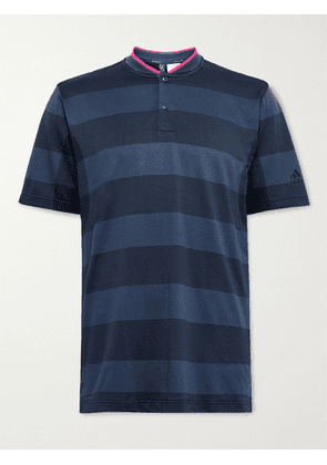 ADIDAS GOLF - Striped Primeknit Golf Polo Shirt - Men - Blue - S