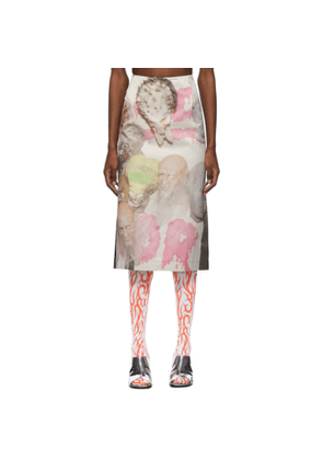 Ashley Williams Multicolor and Black Mask Skirt
