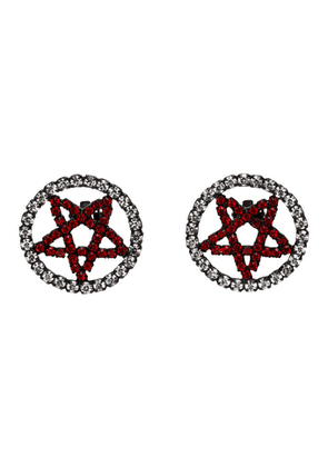 Ashley Williams Black and Red Pentagram Clip-On Earrings
