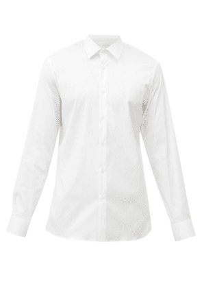 Prada - Cotton-blend Poplin Shirt - Mens - White