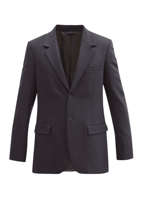 Acne Studios - Pinstriped Wool-blend Twill Suit Jacket - Mens - Navy