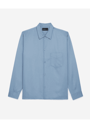 The Kooples - Blue classic-collar shirt with pocket - MEN