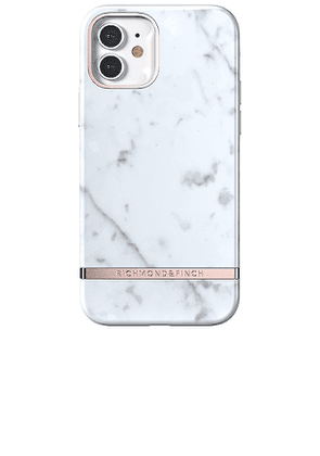 Richmond & Finch White Marble iPhone 12 Pro Case in White.