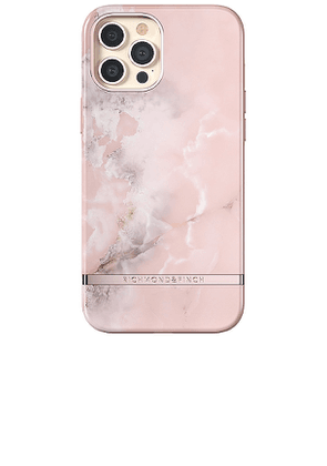 Richmond & Finch Pink Marble iPhone 12 Pro Max Case in Pink.
