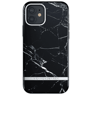 Richmond & Finch Black Marble iPhone 12 Case in Black.