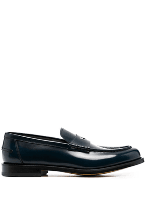 Doucal's strap-detail loafers - Blue