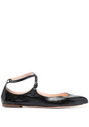 AGL pointed-toe ballerina shoes - Black