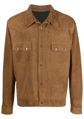 Fortela snap-button bomber jacket - Brown