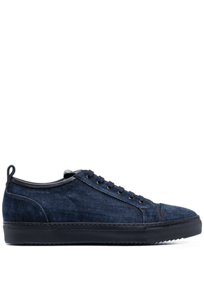 Doucal's low top lace-up sneakers - Blue