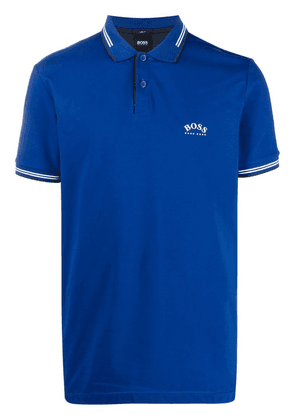 BOSS embroidered logo polo shirt - Blue