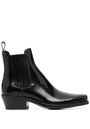 Buttero patent leather ankle boots - Black