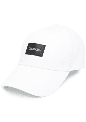Calvin Klein logo patch baseball cap - White