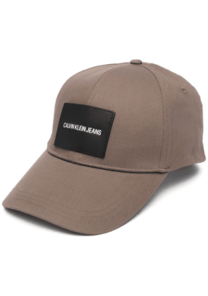 Calvin Klein logo badge cap - Brown