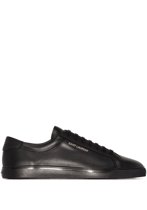 Saint Laurent Andy leather low-top sneakers - Black