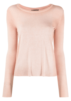 Avant Toi faded micromodal-blend top - Neutrals