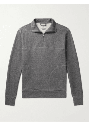 OLIVER SPENCER LOUNGEWEAR - Milner Recycled Cotton-Blend Jersey Half-Zip Sweatshirt - Men - Gray - S