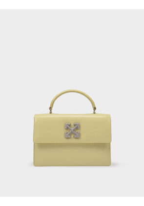 Off-White Jitney 1.4 Bag in Yellow Calfskin Leather