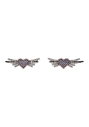 Ashley Williams Multicolor Heart Wing Hair Pins
