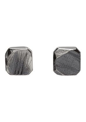 Chin Teo Silver Square Earrings