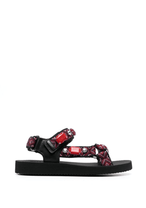 Car Shoe buckle-fastening sandals - Red