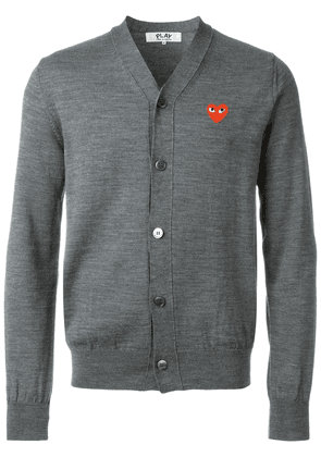 Comme Des Garçons Play embroidered heart cardigan - Grey
