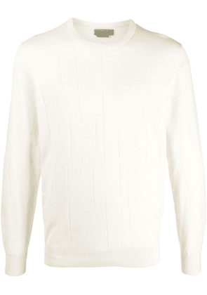 Corneliani panelled long-sleeved pullover - Neutrals