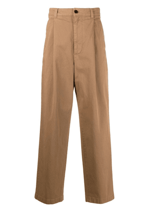 Acne Studios wide-leg chino trousers - Neutrals