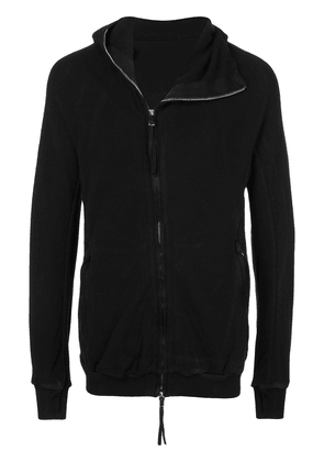 Boris Bidjan Saberi contrast collar hooded jacket - Black