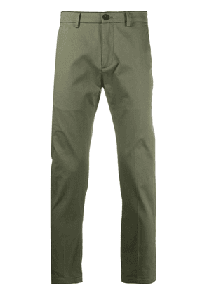Department 5 logo-patch slim-fit trousers - Green