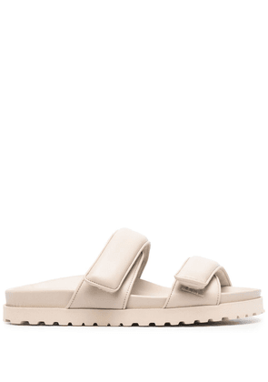 Gia Couture double-strap leather sandals - Neutrals