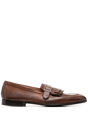 Doucal's tassel-trim leather loafers - Brown