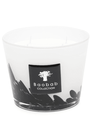 Baobab Collection Feathers abstract-print candle - White