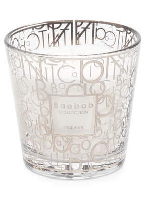 Baobab Collection Platinum graphic-print candle - Silver