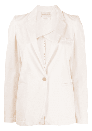 Forte Forte single-breasted cotton blazer - Pink