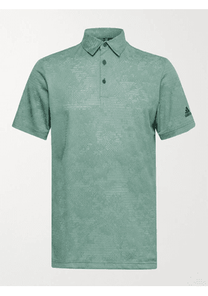 ADIDAS GOLF - Mélange Recycled Primegreen Golf Polo Shirt - Men - Green - S