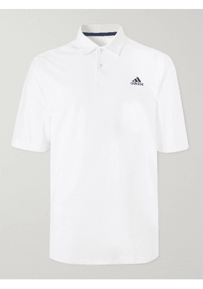 ADIDAS GOLF - Stripe-Trimmed HEAT.RDY Golf Polo Shirt - Men - White - L