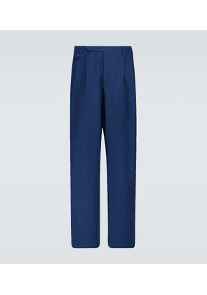 Double-pleated chino pants