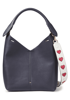 Anya Hindmarch Leather Shoulder Bag Woman Indigo Size --