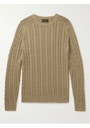 BEAMS PLUS - Cable-Knit Cotton and Hemp-Blend Sweater - Men - Brown - S