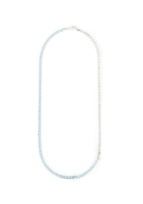 Rhodium plated silver strass embellished necklace